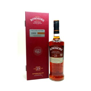 BOWMORE 23 Year Old - 1989 PORT CASK MATURED