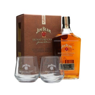 JIM BEAM Signature Craft + 2 Glasses 43%
