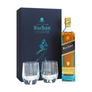 JOHNNIE WALKER BLUE LABEL Gift Box With 2 Glasses