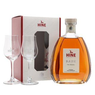 HINE RARE VSOP + 2 GLASSES PACK