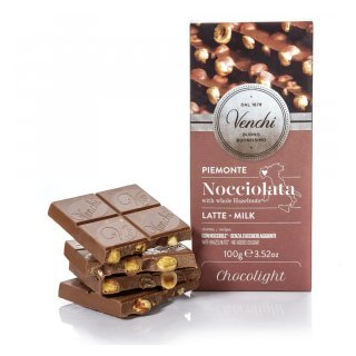 CHOCOLATE VENCHI MILK HAZELNUT BAR PIEDMONT HERITAGE