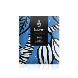 ΣΟΚΟΛΑΤΑ ESOPHY MILK CHOCOLATE (34%) 50gr