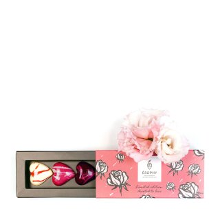 CHOCOLATE ESOPHY DRAGEE BOX VALENTINE'S HEARTS
